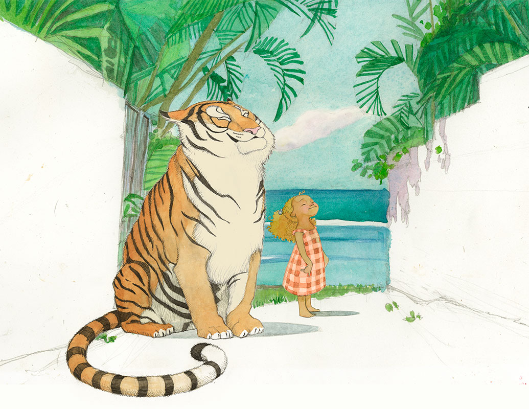 picturebook illustration Tiger